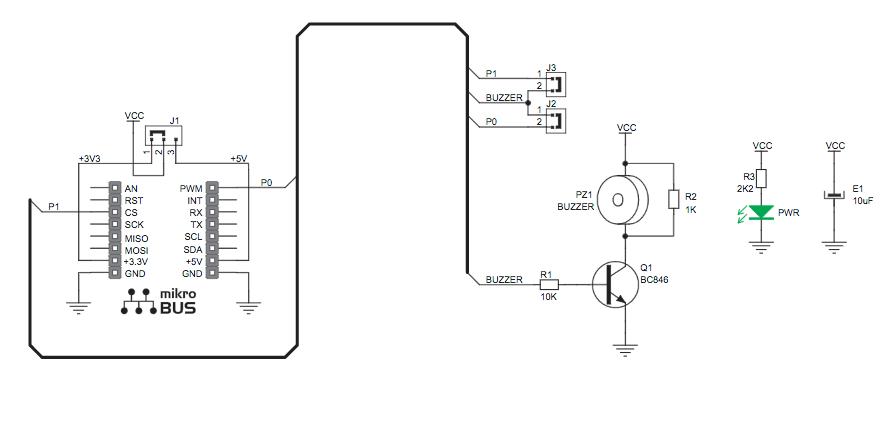 Figura 4: Schema elettrico del Buzz Click