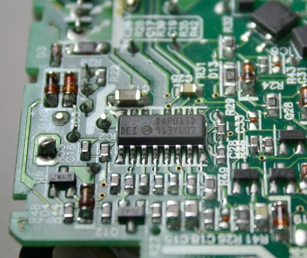Figura 7: Il chip per il controllo del circuito di alimentazione switching