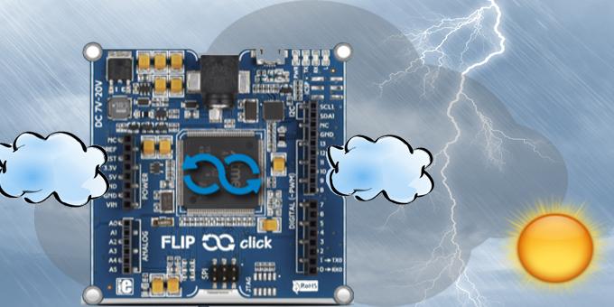 Una stazione meteo con la Flip&Click per l'analisi e la previsione