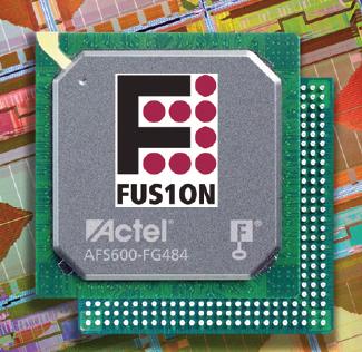 Figura 1. Fusion è la prima FPGA di Actel che integra periferiche mixed-signal