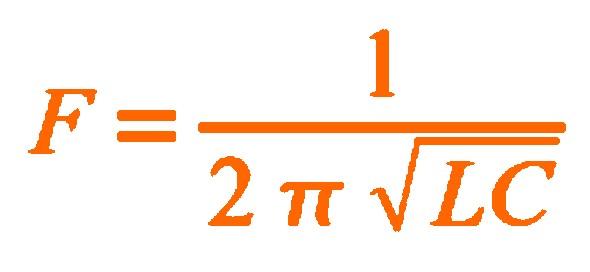 Figura 2: Formula della risonanza parallelo.