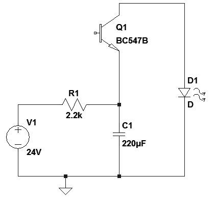 Figura 16: Lampeggiatore a effetto valanga.