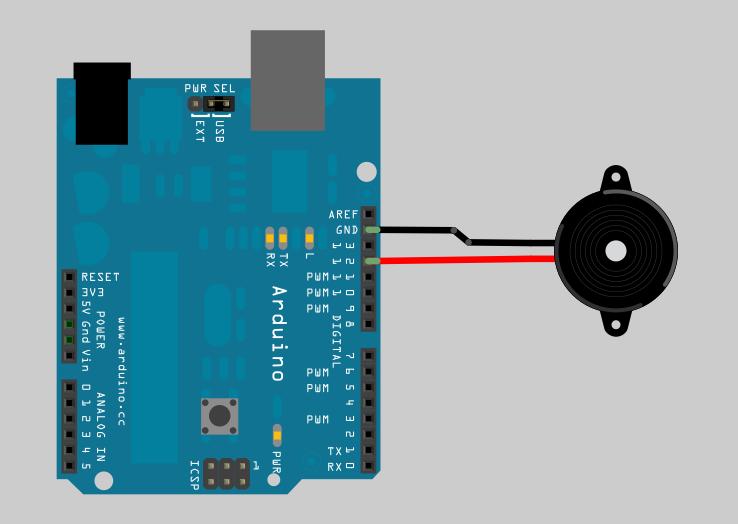 Figura 3: Arduino e il Buzzer