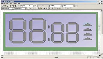 Figura 3. Creazione di un display nell'LCD Editor