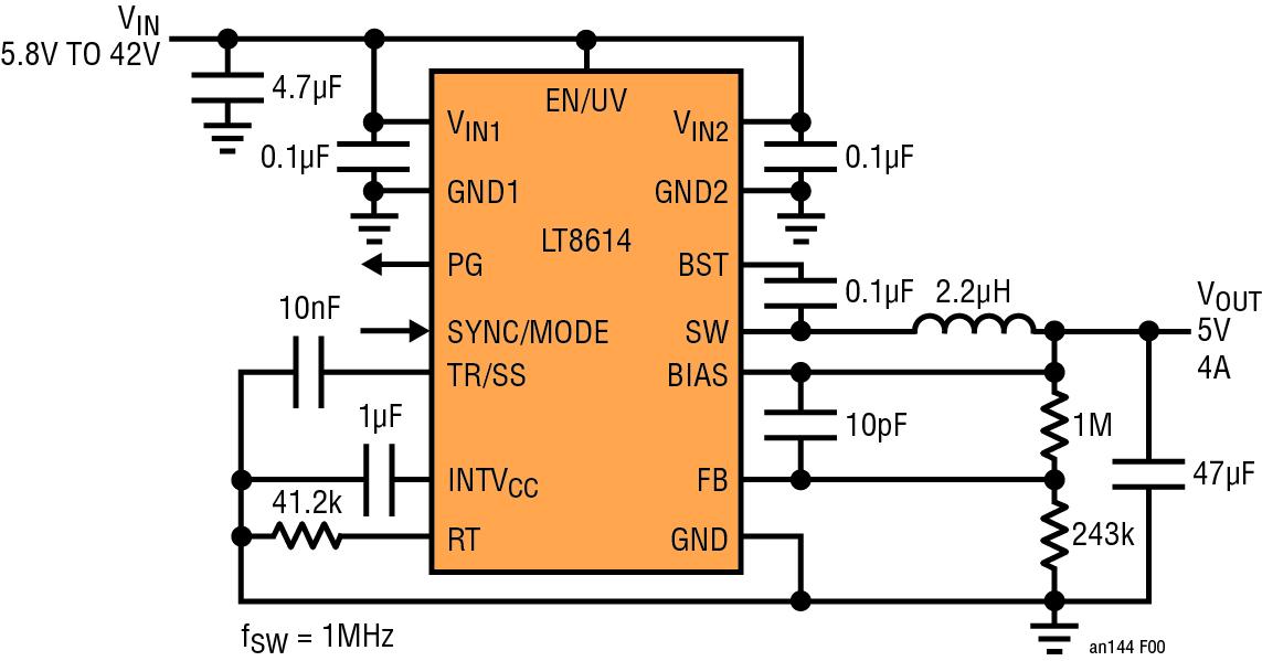 Figura 6B. LT8614 con tecnologia Silent Switcher