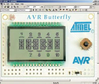 Figura 1. Schermata dell'LCD Editor