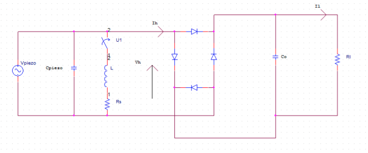 Figura 1: Synchronous switched harvesting on inductor (SSHI)