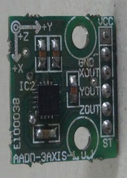 Figura 1 – l'accelerometro ADXL335