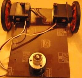 Figura 3 – vista dal basso del robot con in evidenza il ball caster