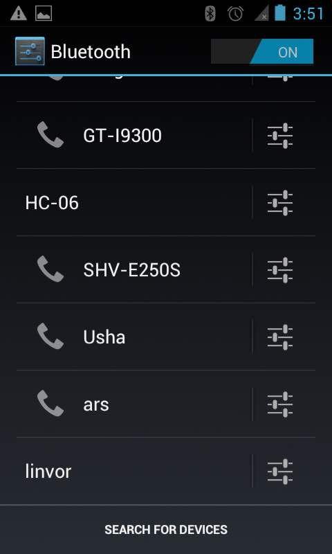 Figura 6 – ricerca dei dispositivi sulla rete Bluetooth