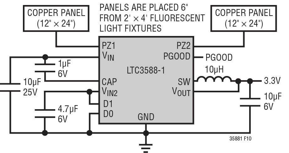 Figura 5. Sistema per l'energy harvesting basato sul campo elettrico