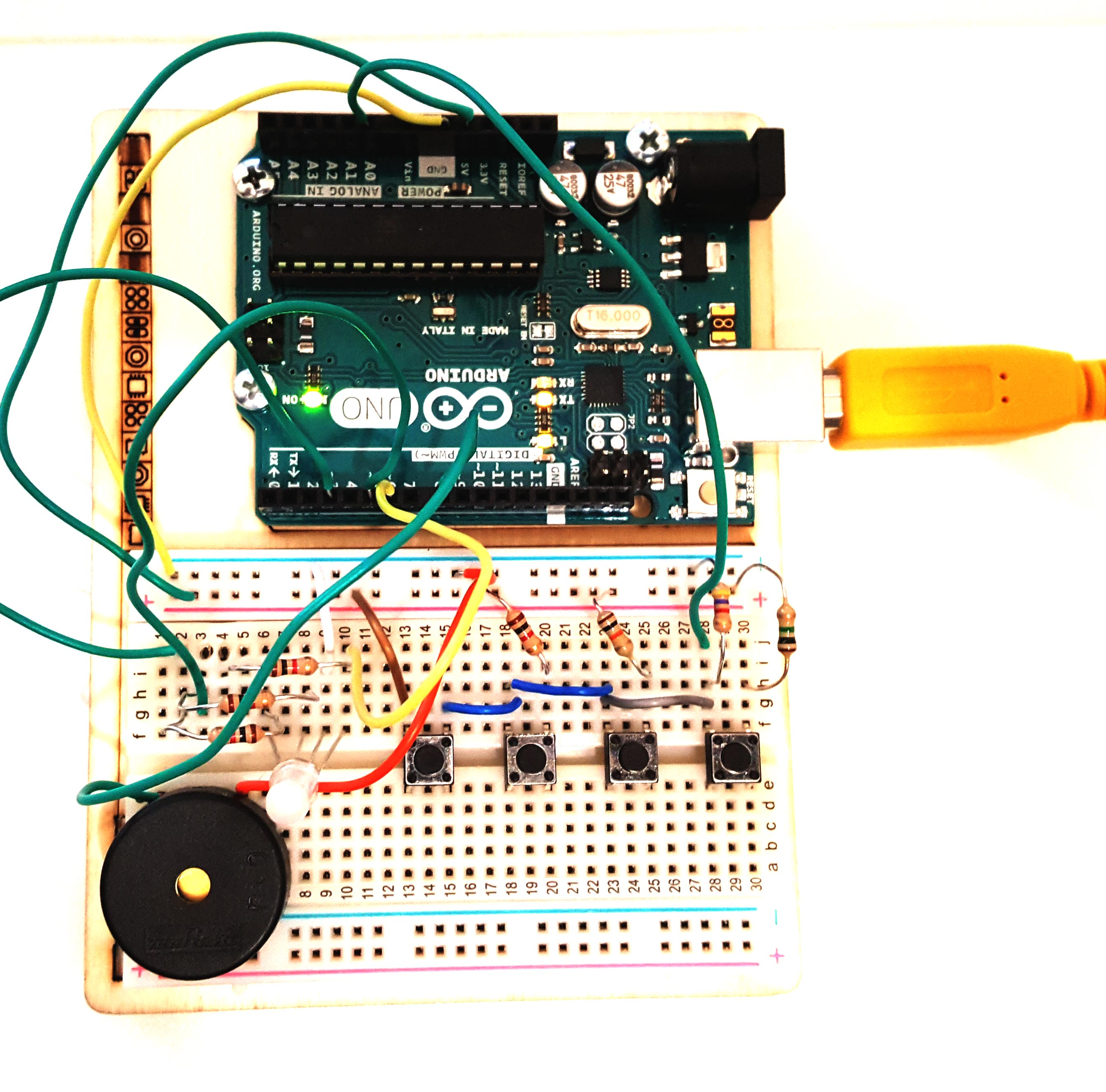 Figura 3: Schema di montaggio con 1 led RGB