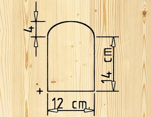 Figura 2: Il disegno della sagoma del laterale.