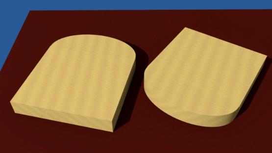 Figura 3: Il taglio dei due laterali.