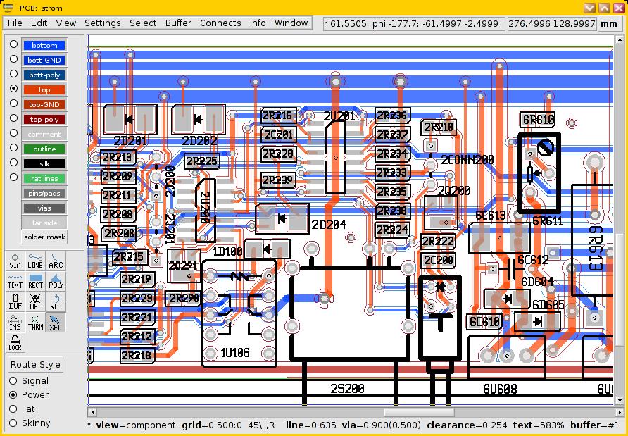 Figura 1: Screenshot del programma gEDA.