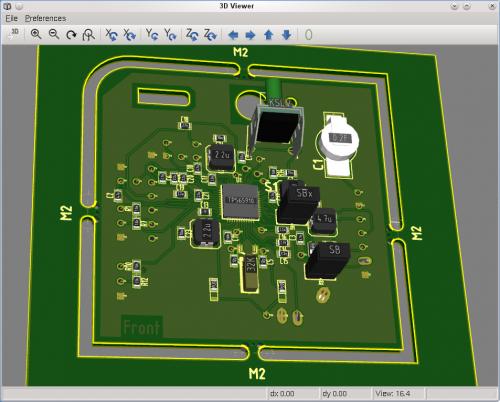 Figura2: Rendering 3d con KiCad