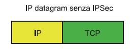 Figura 4. La trama di rete quando non viene utilizzato il protocollo IPSec