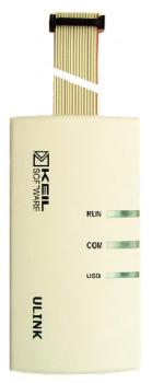 Figura 14. ULINK connette il PC all'interfaccia JTAG del microcontrollore e permette la programmazione della Flash ed il relativo debug