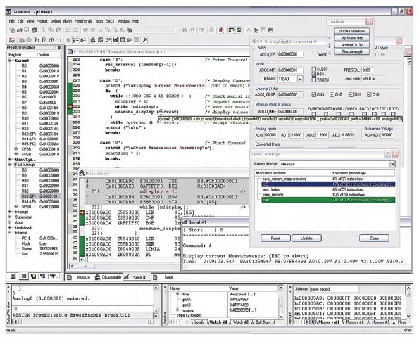 Figura 2. mVision3 è l'ambiente integrato sviluppato da Keil che permette di programmare ed effettuare il debug di oltre 700 dispositivi compresi quelli basati su ARM-powered, XC16x, C16x, ST10, 251 e 8051