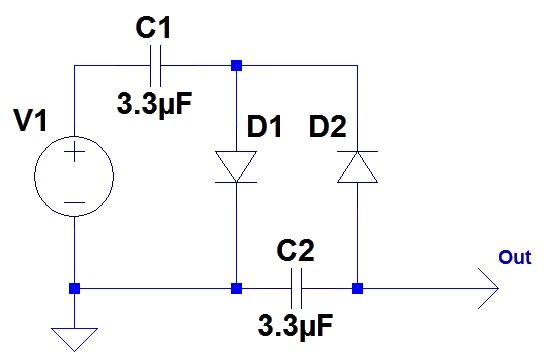 Figura 1: Il duplicatore di tensione.