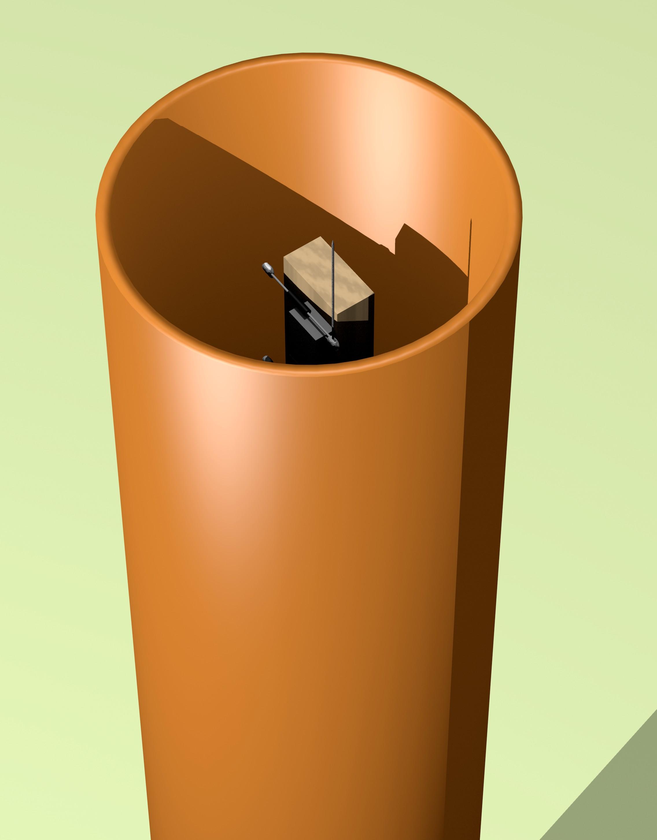 Figura 15: Confezionamento del circuito dentro un tubo di PVC (immagine ad alta risoluzione).