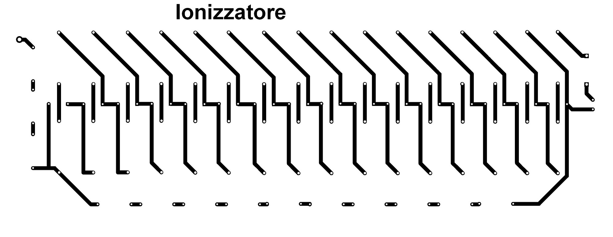 Figura 17: Il PCB dello ionizzatore (32cm. x 12 cm.)