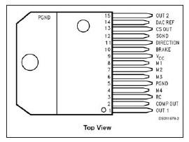 Figura 10: vista superiore dell'integrato LMD18245
