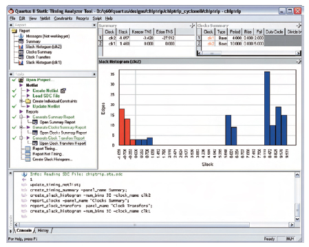 Figura 10. Il tool TimeQuest consente di analizzare le temporizzazione dei segnali