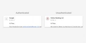 email non autenticato gmail protezione dati