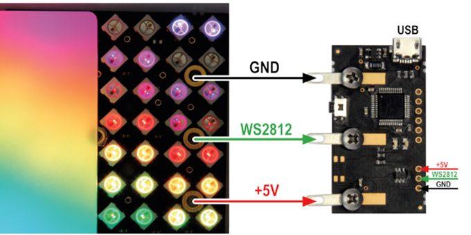 Led matrix player la scheda per gestire matrici e strisce