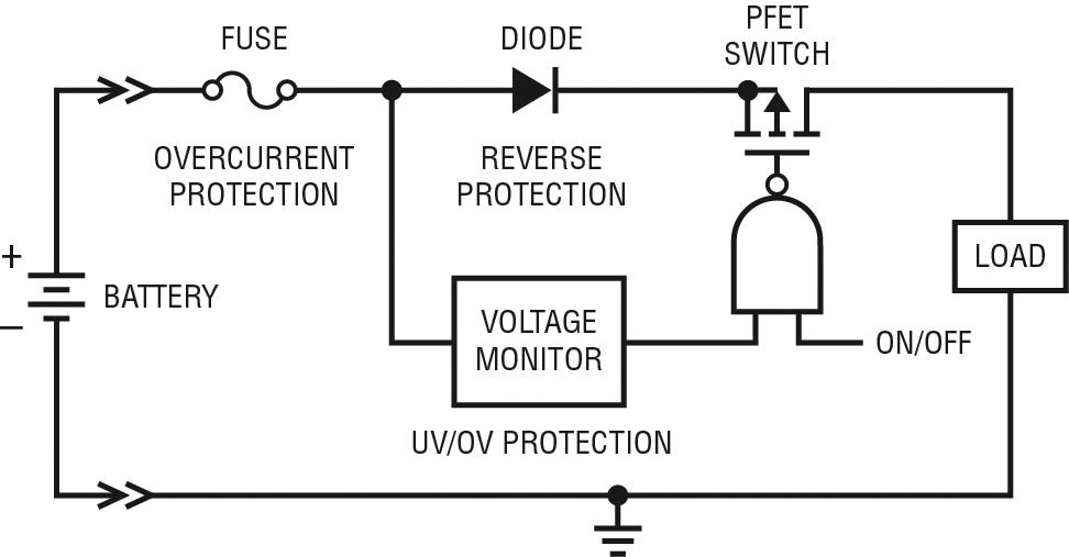 Schema Elettrico Batteria Notebook : Commutazione e protezione dei circuiti elettronici in