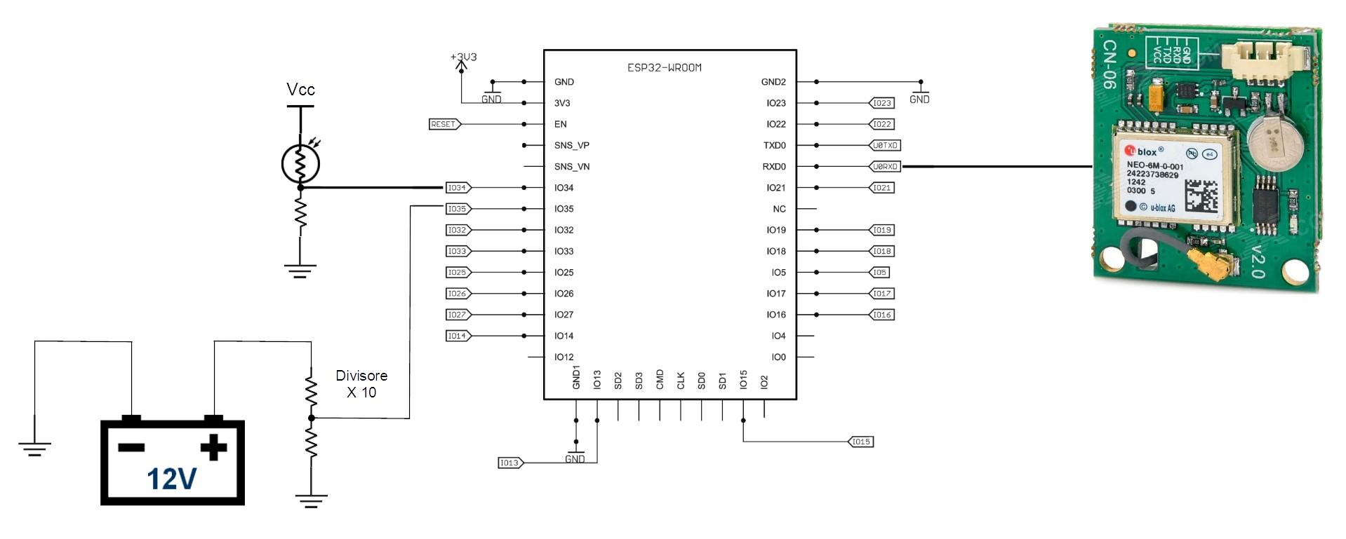 Figura 2: Schema elettrico della scatola nera.