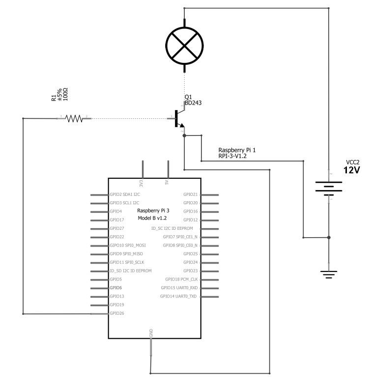 Figura 2: Lo schema elettrico.