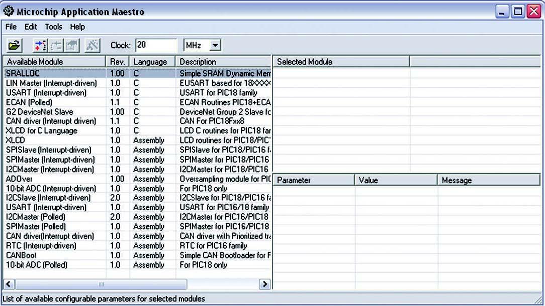 Figura 2: GUI di Application Maestro.