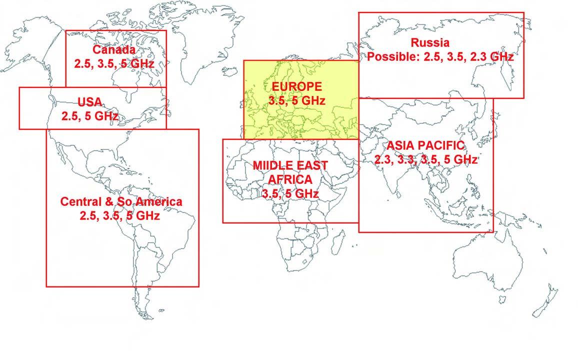 Figura 2: WiMax nel mondo.