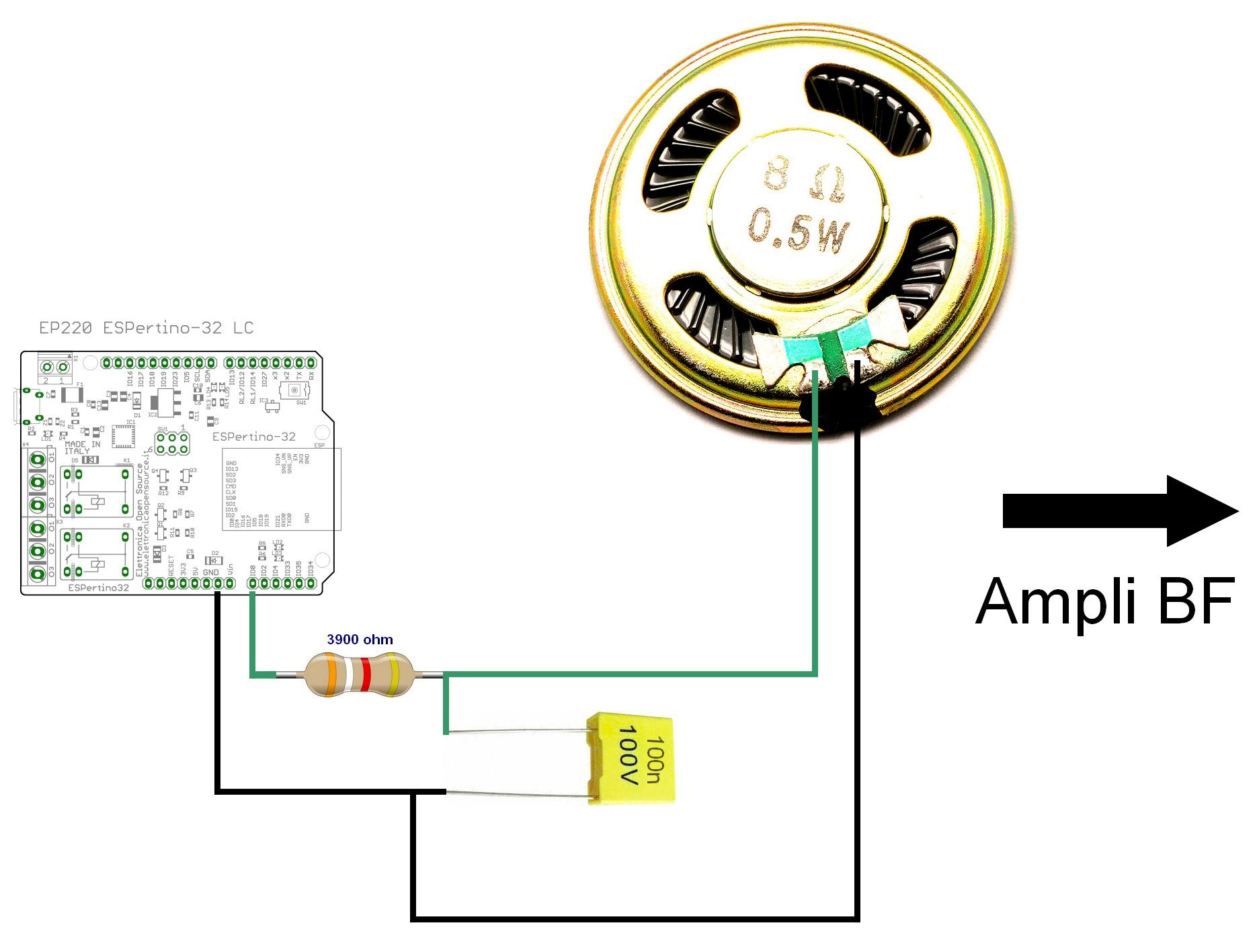 Figura 10: il semplice cablaggio del sistema
