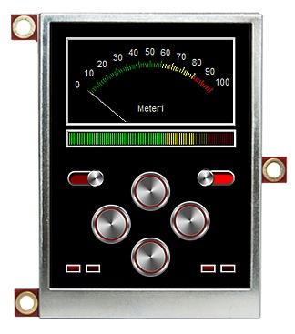 Figura 1: il display uOLED-32028-P1 della 4D Systems