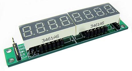 Figura 1: il modulo di visualizzazione composto da otto display a Led