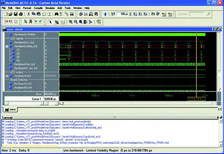 Figura 12: il software ModelSim per effettuare simulazioni.
