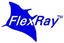 Figura 1: logo flexRay. FlexRay è un protocollo di comunicazione per sistemi distribuiti di tipo fault-tolerant, appositamente sviluppato per sistemi automotive.