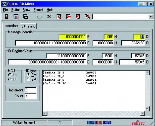 Figura 5: pannello di Bitmixer per l'impostazione degli ID