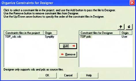 Figura 13: qui sopra, schermata di Sinplify per la sintesi del codice VHDL.