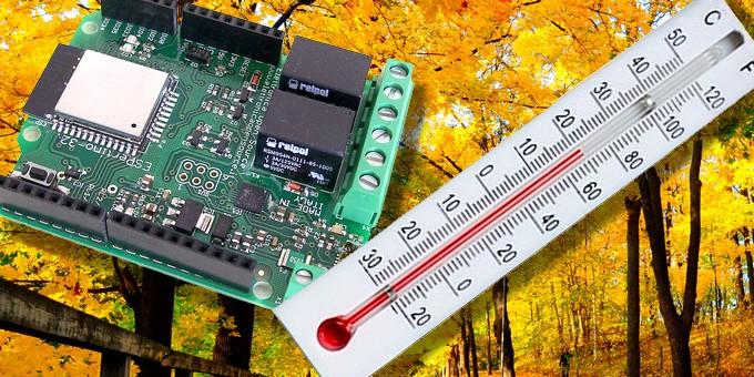Monitoraggio della temperatura con ESPertino in WiFi con consultazione su Internet