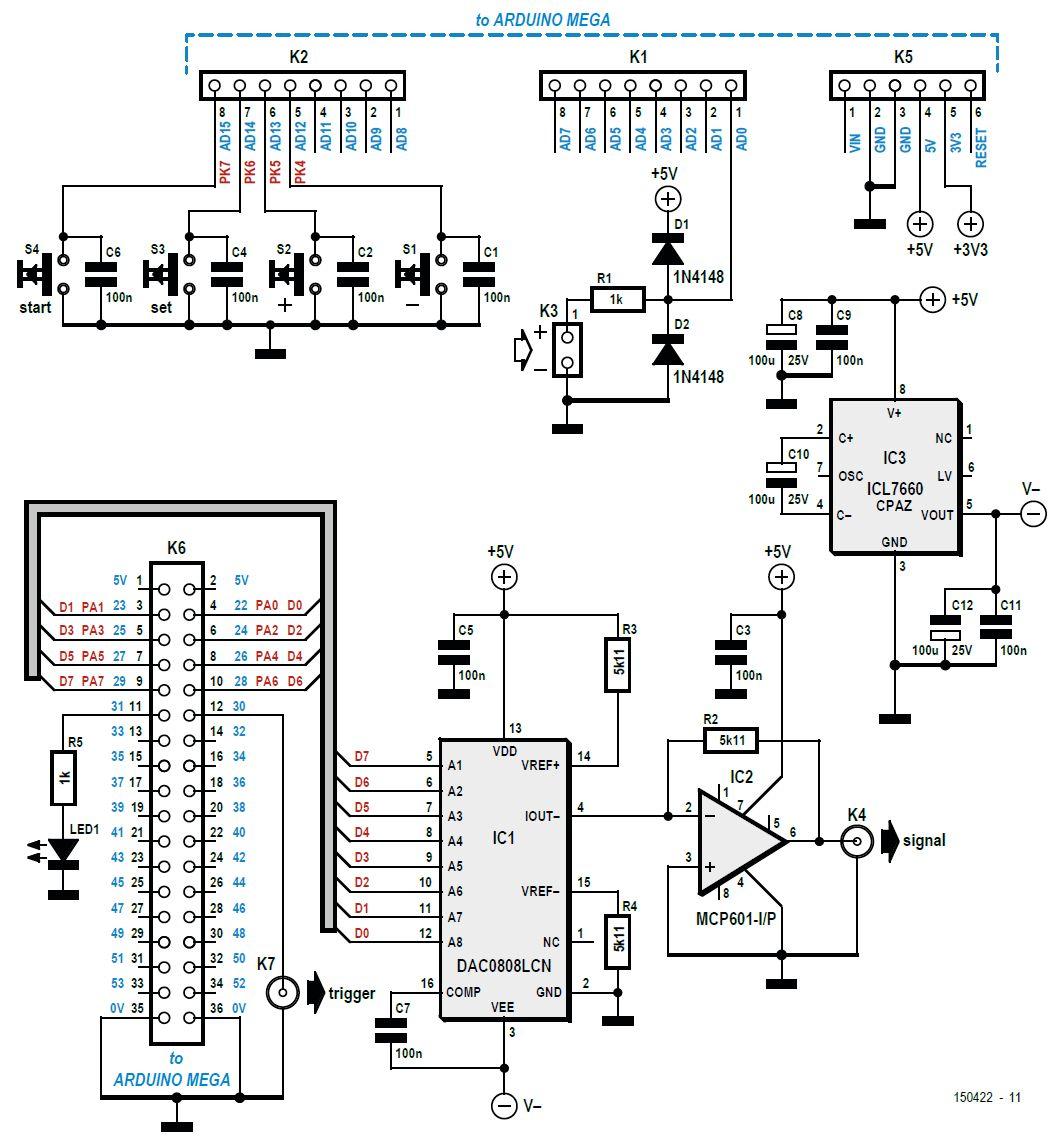 Schema Elettrico Tv Samsung : Tracciatore di tensioni per oscilloscopio elettronica