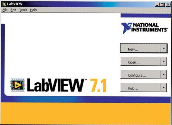 Figura 1: finestra di dialogo di LabVIEW.