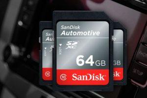 SanDisk SD: la soluzione di archiviazione per il settore automotive