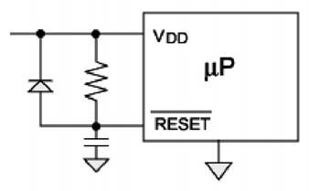 Figura 1: circuito di reset classico.