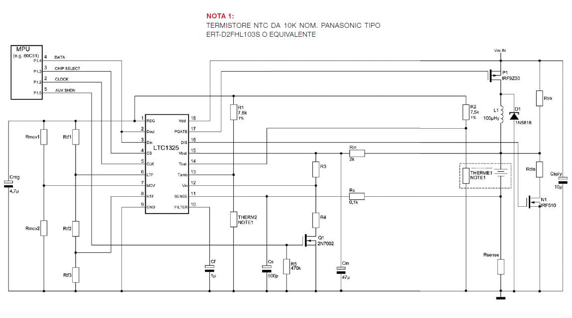 Figura 2: circuito di ricarica con LTC1325.