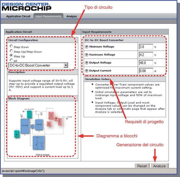 Figura 2: il primo passo di simulazione consiste nello scegliere la configurazione circuitale