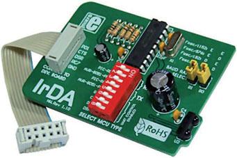 Figura 6: la scheda di sviluppo di Mikroelektronika rappresenta un comodo strumento per aggiungere funzionalità IrDA alla propria applicazioni.